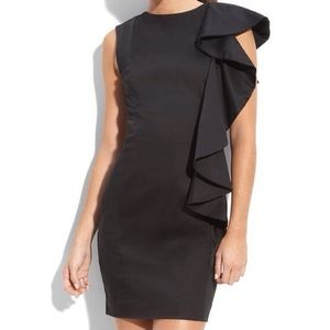 French connection shoulder ruffle dress